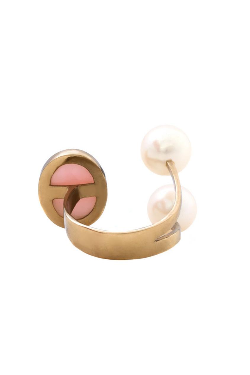 Бронзовое кольцо с жемчугом и опалом от AIZEL